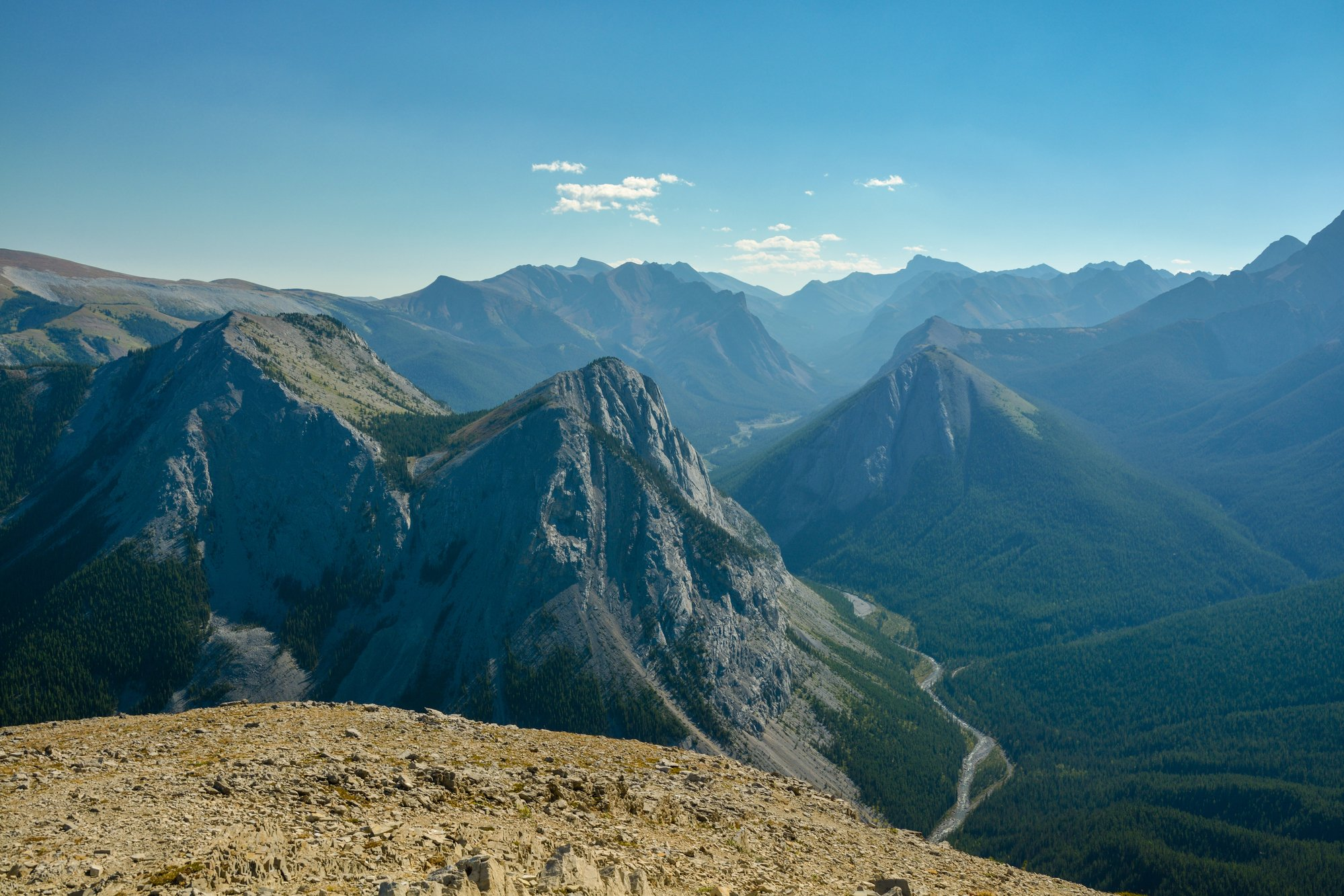 Views from the top of the Sulphur Skyline trail - Jasper National Park