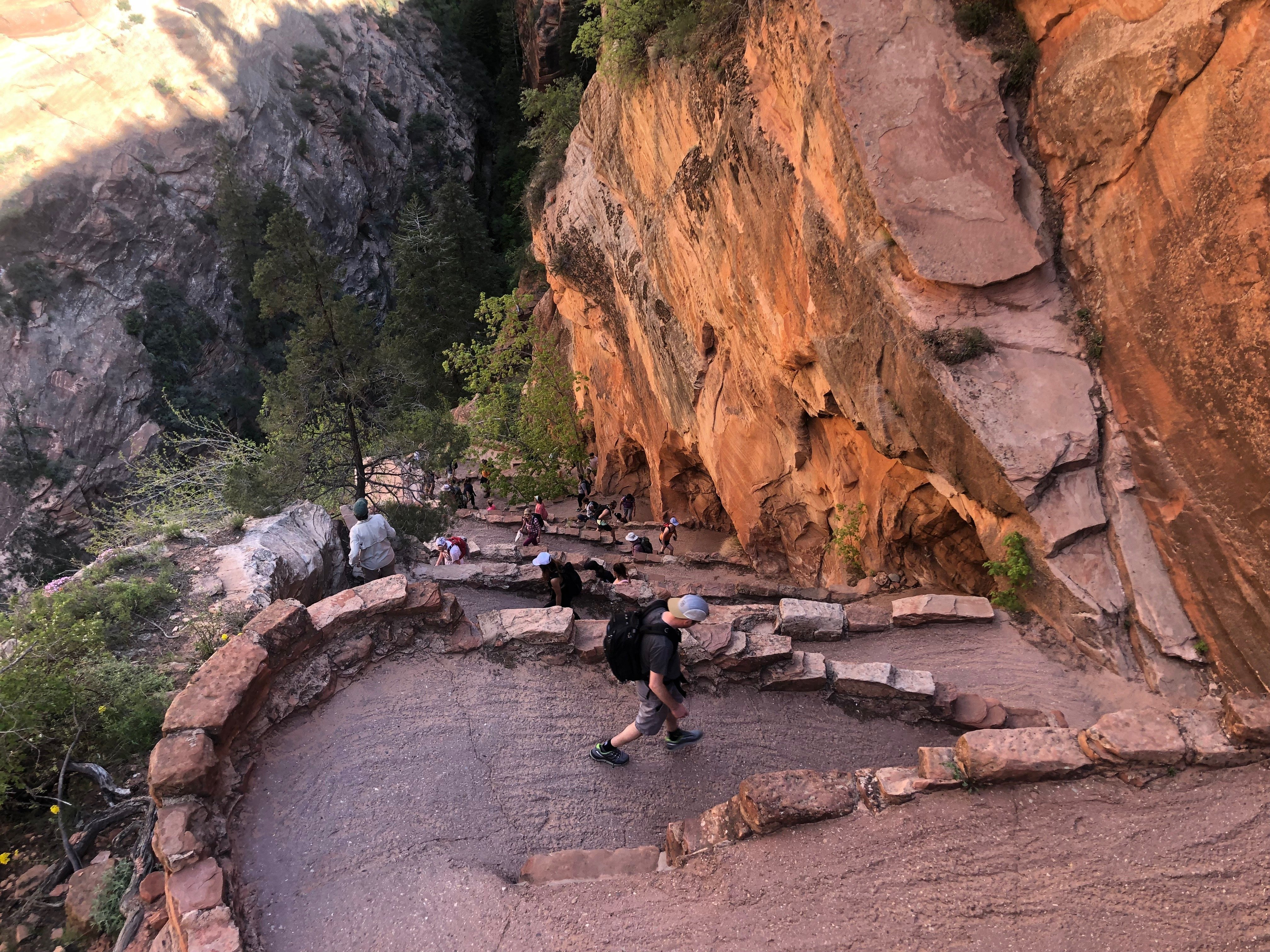Walter's Wiggles are a set of switchbacks you'll encounter while hiking Angels Landing.